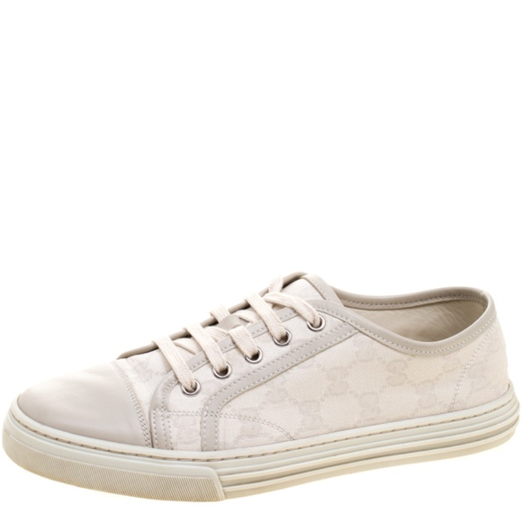 Gg Canvas And Leather Sneakers   Poshmark